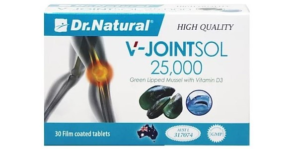 AstraGrace – (Dr.Natural) V-Jointsol 25,000 Green Lipped Mussel with Vitamin D3 30's