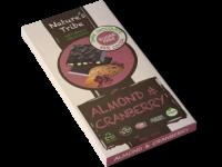 Praline Holdings Pty Ltd  – (Nature's Tribe) Almond & Cranberry Dark Chocolate 88g Bar