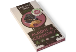 Praline Holdings Pty Ltd  – (Nature's Tribe) Almond & Cranberry Dark Chocolate 88g Bar