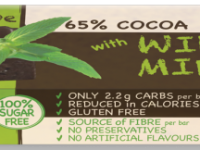 Praline Holdings Pty Ltd  – (Nature's Tribe) Wild Mint Sugar Free Dark Chocolate 38 g Bar