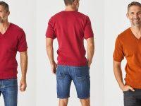 Aklanda Australia – Jax V Neck Short Sleeve Top