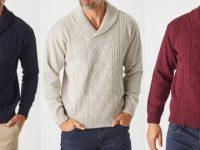 Aklanda Australia – Aaron Cable Shawl Sweater
