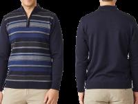 Aklanda Australia – Lonsdale Stripe Half Zip Sweater