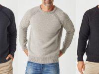 Aklanda Australia – Merino Moss Platted Crew Sweater