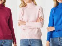 Aklanda Australia – Sofia High Neck Jersey Sweater