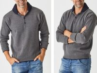 Aklanda Australia – Two Tone Tube Collar Sweater
