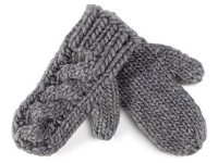 UGG Since 1974 - Slate Cable Knit Wool Mittens